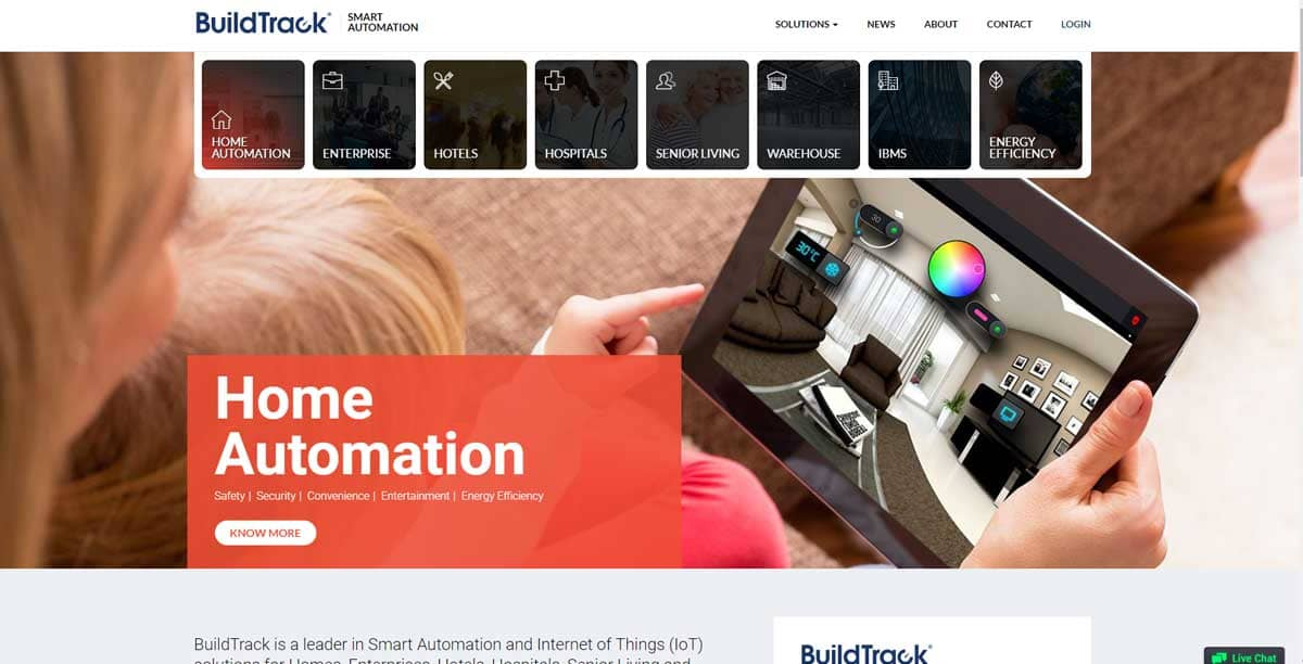 BuildTrack Home Automation System Manufacturer and suppliers