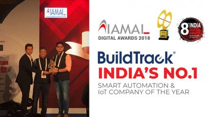 IAMAI Digital Awards 2018 BuildTrack India's No.1 Smart Home Automation & IoT Company of the Year