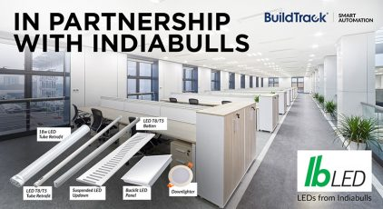 buildtrack led lighting controlled
